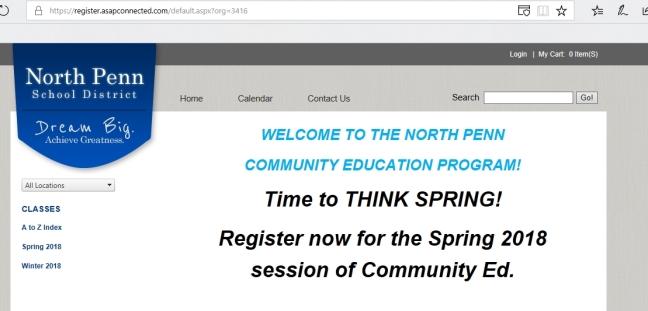 Spring 2018 Classes